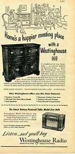 1948-Print-Ad-of-Westinghouse-Model-169-Radio-Record-Player-amp-178-Table-Model