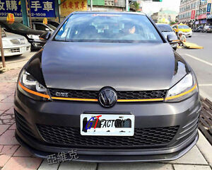 new for vw golf 7 mk7 gti only carbon front lip spoiler ebay. Black Bedroom Furniture Sets. Home Design Ideas