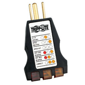 "TRIPP-LITE ""INSTANT READ"" AC OUTLET TESTER MODEL: CT120 STANDARD 3 WIRE 120 V"