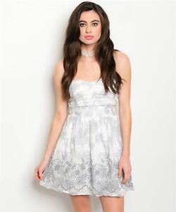 066891fe1e31d Image is loading Women-Strapless-Sweetheart-Mini-Dress-Off-White-Sheer-