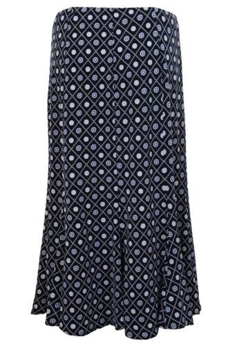 Ladies Diamond Floral Long Sleeve Waterfall Cardi Top Lined Flare Skirt 2 Piece