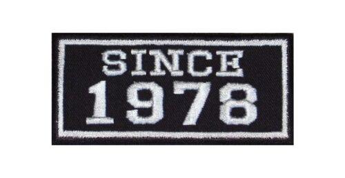 Since 1978 Biker patches écusson année MC moto rocker BLOUSON Club depuis nombre