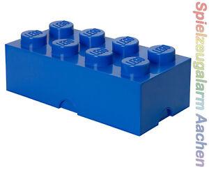 LEGO storage Brick 8 Bleu Blue 2x4 rangement boîte xxl Box Caisse  </span>