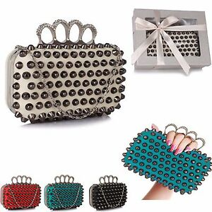 LeahWard Women s Fashion Studded Clutch Bags Party Nice Wedding ... 3e1fae26d9900