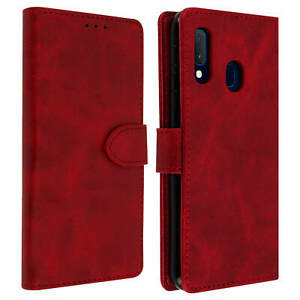 Wallet-Folio-Case-with-Stand-for-Samsung-Galaxy-A20e-Red