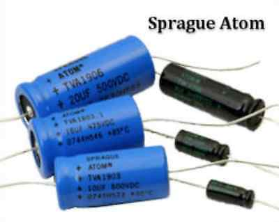 30V NP TVAN1220 Axial Electrolytic Capacitor 20uF SPRAGUE ATOM 20uF 1pcs