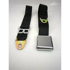 2 point airplane seatbelt PAIR black hot street rat rod gasser SALE airway ez ss