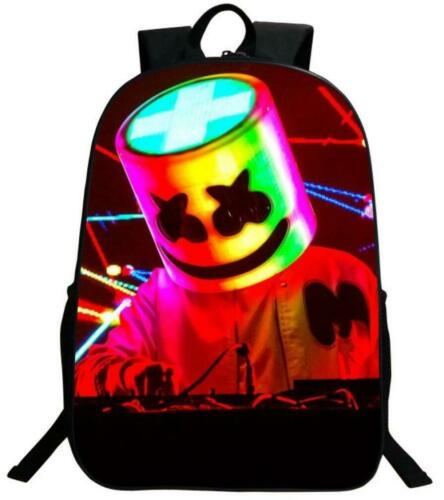 DJ Marshmello 3D Print Fashion Travel packsack Girls Boys School Backpack A26