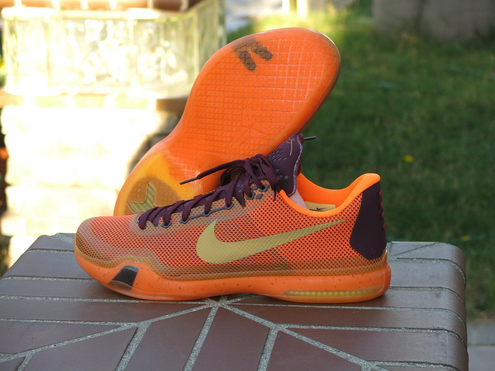 Nike zoom kobe x 10 silk road Uomo scarpe da basket 705317-676 sz 16