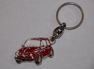 METAL KEY RING. FIAT 500 RED