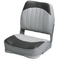 Gray Charcoal Fishing Boat Seat Marine Vinyl Foam Pad Mounting Hardware Chair