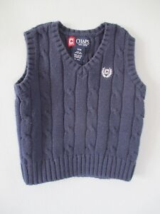 2a0b049c4082 Chaps Boy s Size 12 Months Sleeveless Cable Knit Pullover Sweater ...