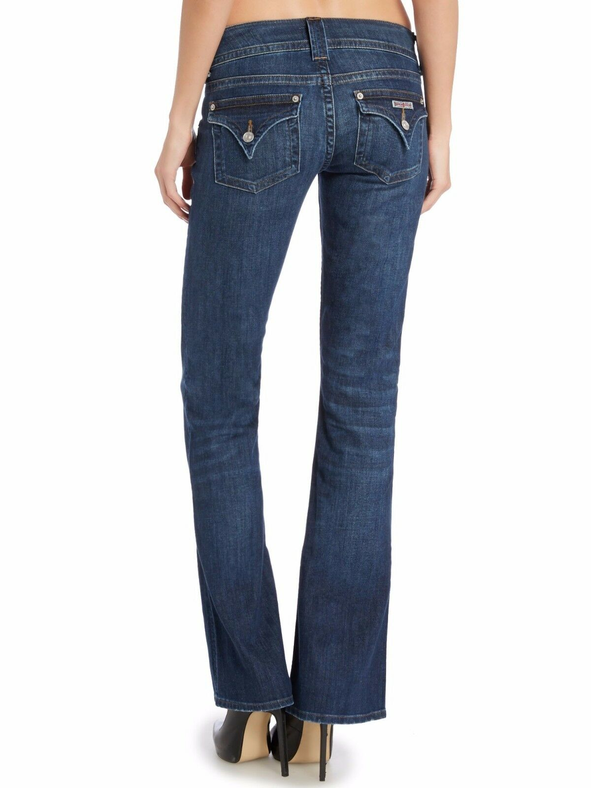 198 NWT HUDSON WOMEN Sz25 SIGNATURE BOOT-CUT STRETCH JEANS blueE ENLIGHTENED