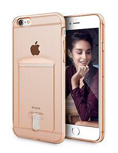 the best attitude d05de c3358 iPhone 6 6S Plus Clear Neon Orange Case 5.5 Inch Soft TPU With Card ...