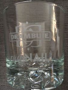 Drambuie Rusty Nail Whisky/ Liqueur Double Rocks Glass Crushed Ice Pattern EUC
