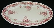 Villeroy & Boch Valeria Pink / Red  Platter - Brown Backstamp Germany
