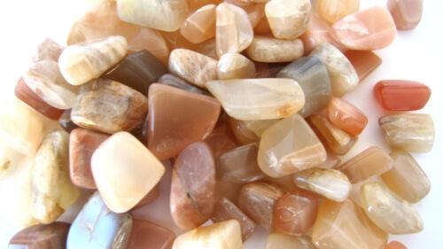 Peach Moonstone India 10-20mm QTY12 Tumbled Stone Healing Crystal Feminine PMS