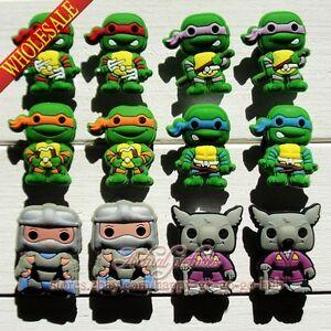 Lots of Teenage Mutant Ninja Turtles Shoe Buckle Fit for Jibz Bracelet Bands