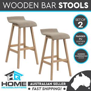 Strange Wooden Bar Stool Kitchen Dining Chairs Timber Cream Fabric Machost Co Dining Chair Design Ideas Machostcouk