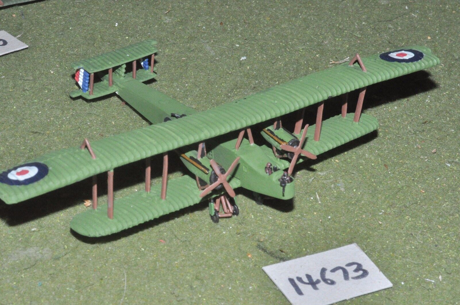 6mm WW1   british - 1 144 scale bomber red eagle mk 1 plane - aircraft (14673)