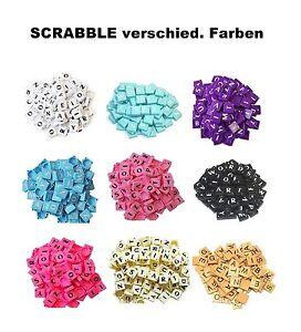 Rosa Scrabble Ersatzteile Holz Buchstaben und Zahlen Brettspiel 100 St