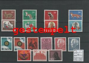 Allemagne-Federal-Rfa-Vintage-Yearset-1967-Timbres-Used-Complet