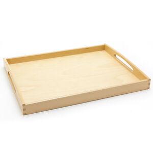 holzfee tablett 50 x 39 qualit t buche holztablett serviertablett k chentablett ebay. Black Bedroom Furniture Sets. Home Design Ideas