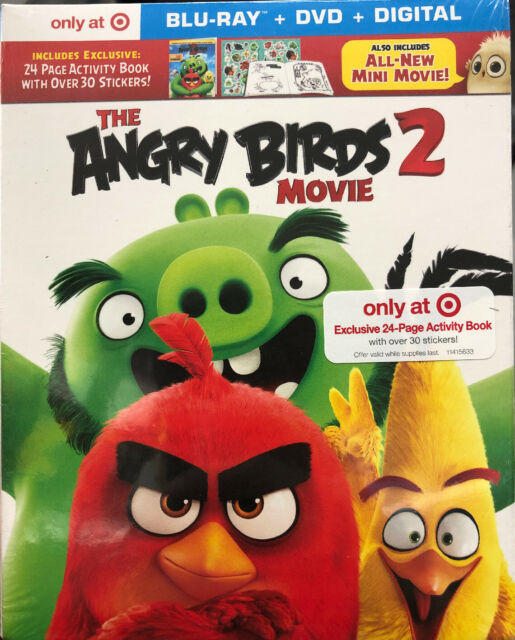 The Angry Birds 1 2 Collection Blu Ray Dvd Slipcover Sleeve