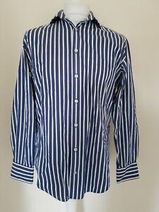 Camisa-Para-Hombre-Gant-Regent-Popelina-Azul-a-Rayas-Grande-42-pecho-e-z-Fit
