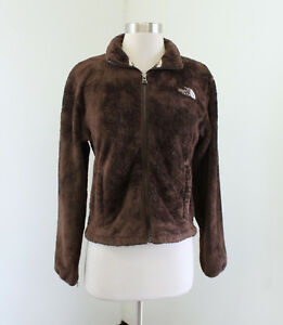 3b16ad9d8 Details about The North Face Chocolate Brown Fuzzy Fleece Zip Front Jacket  Size S