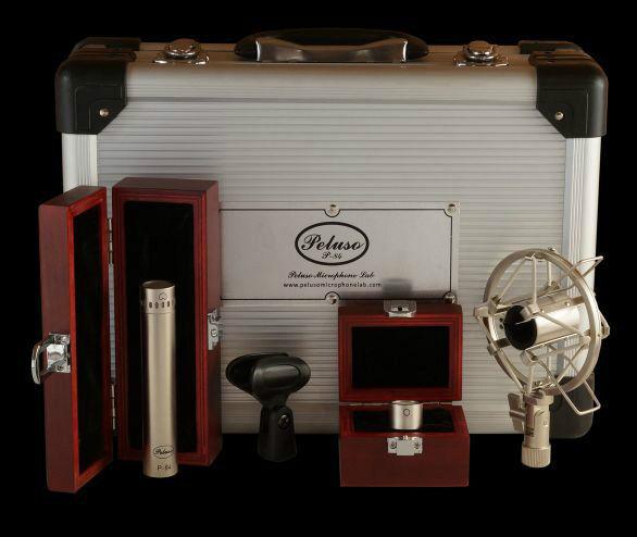 Peluso P-84 Single Small Diaphragm Microphone w Cardioid & Omni Capsules - New