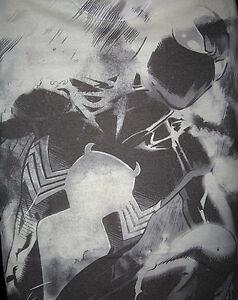 Marvel-DC-SPIDERMAN-BLACK-ALL-OVER-T-Shirt-L-40-OFF-SALE
