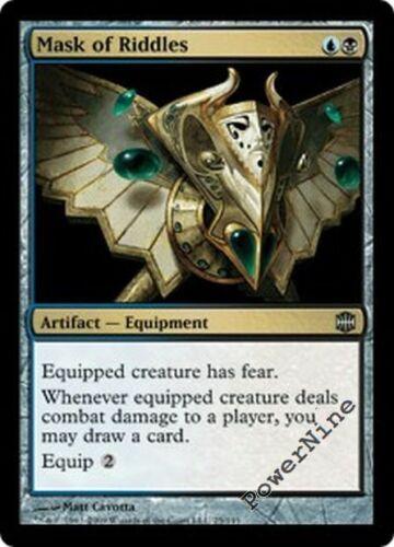 1 PLAYED FOIL Mask of Riddles Gold Alara Reborn Mtg Magic Uncommon 1x x1