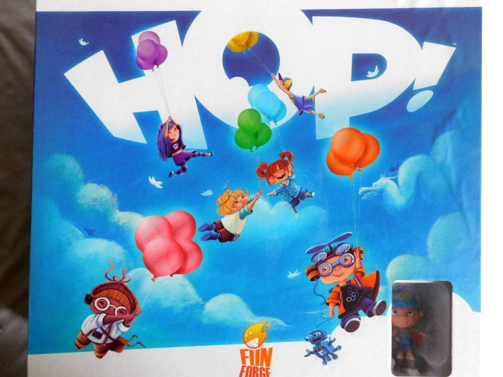 HOP  Fun Forge 3D gameboard Board Game w Painted Mini Figures NEW & Sealed RARE