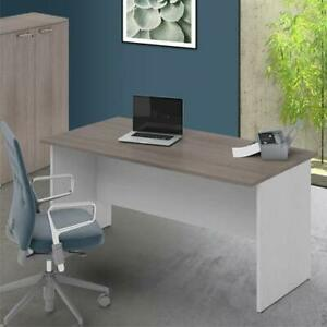 Scrivania Ufficio Camerette Larice Grigio Scrivanie In Legno Per Pc 74x180x80 Cm Ebay
