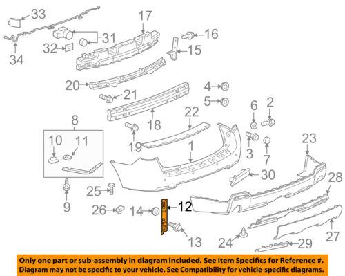GMC GM OEM 10-17 Terrain Rear Bumper-Upper Bracket Left 20907557
