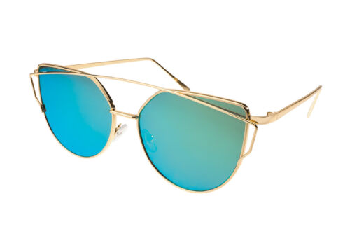 Women Ladies Sunglasses Cat Eyes Fashion Glasses Multicoloured Mirrored Lens