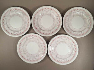 Lot-of-Five-Spode-Copeland-ERMINE-RED-DINNER-PLATES