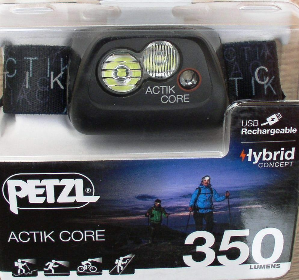 Petzl  Actik Core - Aktive Stirnlampe in black, 350 Lumen, Kopflampe, Headlight  fast delivery