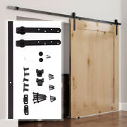 6FT Sliding Barn Wood Door Hardware Kit Cabinet Closet Hanger 2pc Coffee