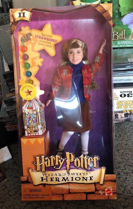 Harry Potter WIZARD SWEETS HERMIONE & Bertie Bott Box + Scented BRACELET 2001