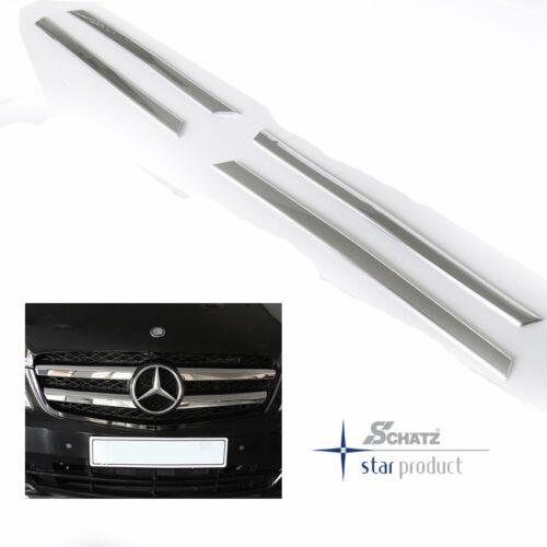 Sonnelles Chrome grilleisten Mercedes V-VIANO//VITO w639 à partir de 2003 à 2014