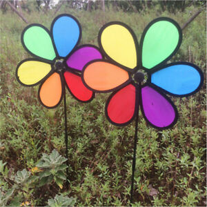 Rainbow-Wind-Spinner-Toy-Ground-Stake-Outdoor-Yard-Garden-Decor-Spinner-Y-PPLUS