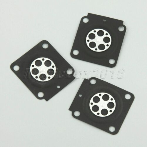 10pcs Metering Diaphragm Gaskets Replaces For Carburetors ZAMA A015053 RB-100