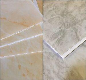 Grey Marble Beige Marble Bathroom PVC Panels Shower Wet ...