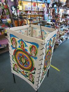 Handmade-Nepalese-Lokta-Paper-Lantern-Painted-Colourful-Mandala-Buddhist