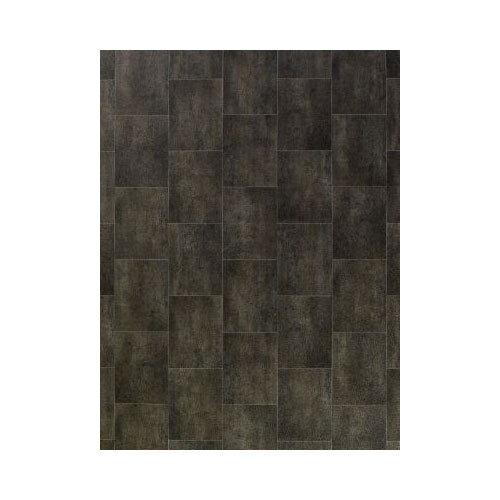 Fliese schwarz PVC CV Vinyl Bodenbelag Vinylboden  /m²