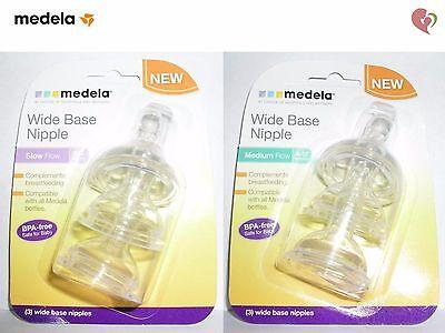 3pk//0-4 months by Medela Medela Slow Flow Wide Base Nipple English Manual