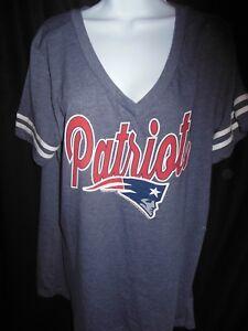 New England Patriots Women s NFL Team Apparel V Neck Shirt  468043390
