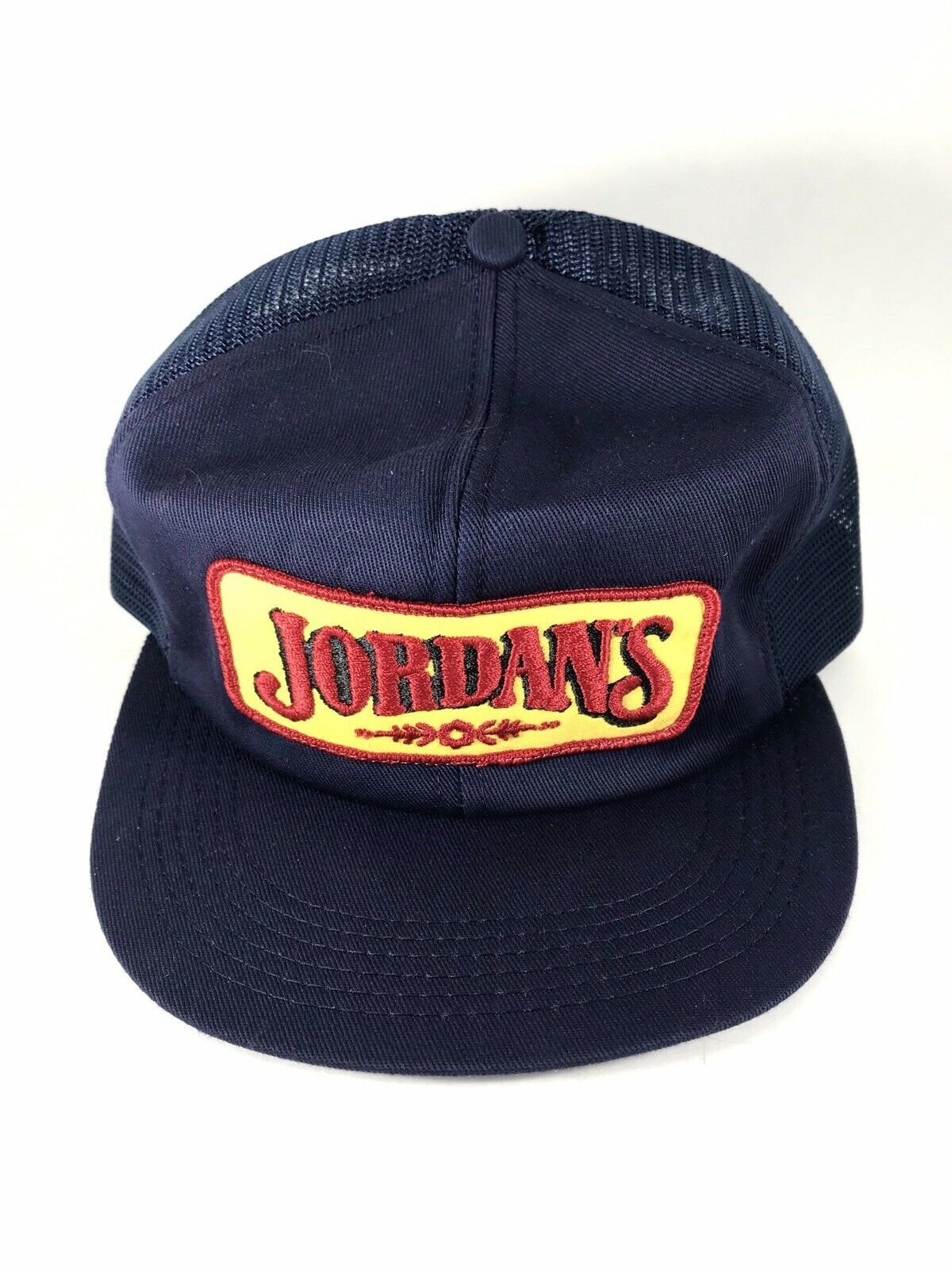 Vintage Jordan's Mesh Trucker Hat Cap Snapback Maine Hotdogs Patch K Products